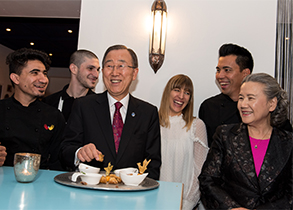 UN Secretary-General Ban Ki-moon showcases Together campaign to promote diversity and inclusion in Vienna
