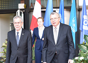 Austrian President Alexander Van der Bellen visiting the UN in Vienna - Highlights