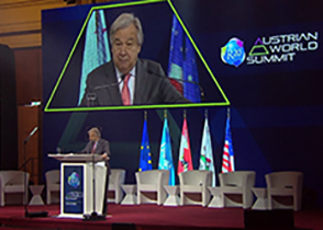 UN Secretary-General António Guterres at the Austrian World Summit