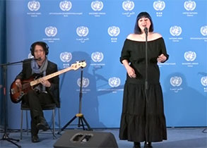 "World Environment Day 2019 theme song ""We Are Walking On"" at United Nations Vienna"