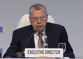 Yury Fedotov delivering opening speech at CoSP8