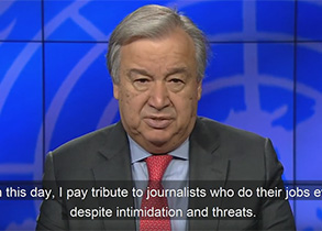 The Secretary-General: Message on International Day to End Impunity for Crimes against Journalists
